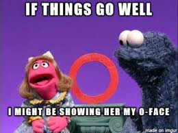 Cookie Monster Meme - he wants to show her his cookie monster meme on imgur