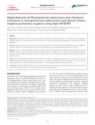 microbiology society journals rapid detection of mycobacterium