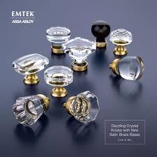 emtek crystal cabinet knobs emtek s crystal cabinet knobs with satin brass finish details these