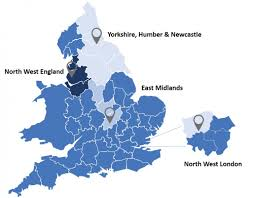 Yorkshire England Map by Npaep Locations Across England
