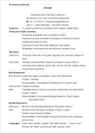 German Resume Sample by Resume Template For Microsoft Word More Resume Help Part Time Job