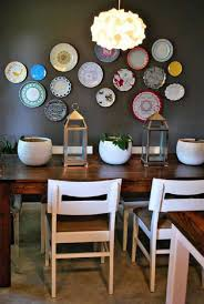 cool dining room wall decor ideas formal plaid plate wall decor