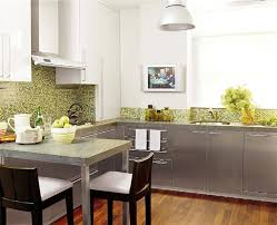 green backsplash kitchen stainless steel kitchen cabinets contemporary kitchen