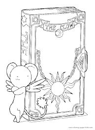 cardcaptor sakura color cartoon characters coloring pages