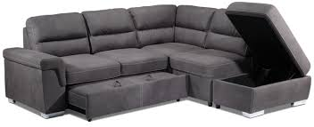 simone 3 piece right facing sofa bed sectional charcoal leon u0027s