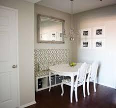 apartment dining room ideas diy breakfast nook with white desert modern decor geometric