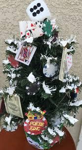 game room gambling poker slots dice themed christmas tree