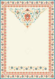muslim invitation cards ornamental frame in arabic style decor for brochure flyer