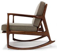 Wooden Rocking Chairs by Long Mid Century Modern Rocking Chair Mid Century Pinterest