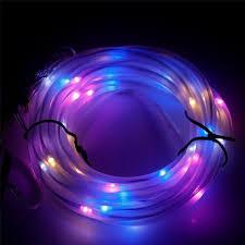 solar powered tube lights 5m 50 leds solar power string lights waterproof outdoor warm white