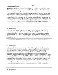 main idea printable worksheets free worksheets library download