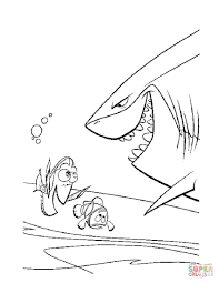 meet the shark bruce coloring page free printable coloring pages