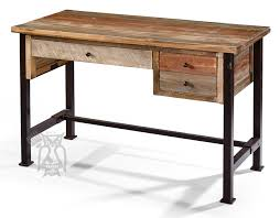 rustic pine writing desk ifd solid pine rustic writing desk metal legs multi colored