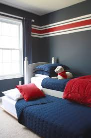 bedroom with striped wall and red cushion boyroom interior http bedroom with striped wall and red cushion boyroom interior http oohm