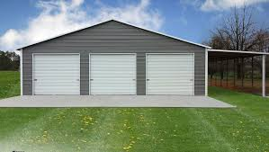 Garage With Carport Advantages Of A Steel Carport Or Garage