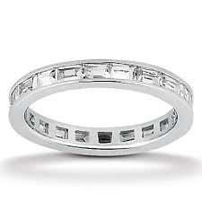 channel set wedding band 1 50 ct baguette cut channel set diamond eternity wedding band