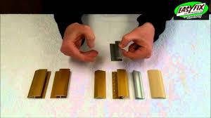 Laminate Floor Edges Choosing Wooden Floor Edgings Easyfix Diy Aluminium Laminate