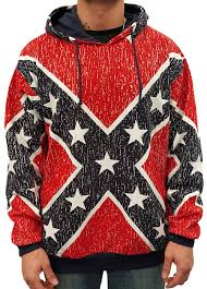 Flag Sweater Distressed Confederate Rebel Flag All Over Hooded Sweatshirt