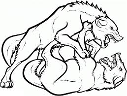 wolves coloring page free download