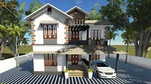 1500 sq ft contemporary double floor home design