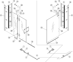Standard Size Shower Door by Bliss Standard 900mm Corner Entry Right Hand Hinged Shower Door