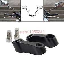 black bolts size 10mm mirrors extension riser extend adapter for