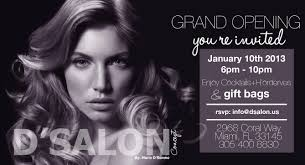 Salon Invitation Card D U0027salon D U0027event Grandopening