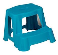 blue kids step stool bathroom plastic potty training double steps