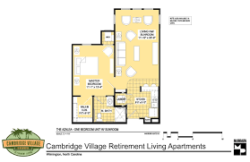 floor plans cambridge village of wilmington one bedroom deluxe