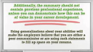 How To Write Summary Of Qualifications How To Write A Professional Summary For Your Resume Resume Reviews