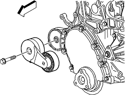 repair instructions drive belt tensioner replacement 2000