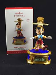 Radko Halloween Ornaments Pinocchio 75th Anniversary Hallmark Ornament Pinocchio Ornament