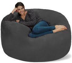 comfort research fufsack memory foam microfiber 6 foot xl bean bag