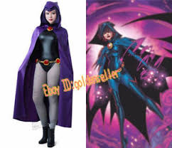 Raven Teen Titans Halloween Costume Anime Dc Teen Titans Raven Cosplay Halloween Costume Purple Cool