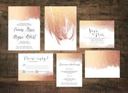 printable rose gold wedding invitation invitation suite