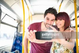 Take A Selfie Friends Take A Selfie On The Bus Stock Photo Getty Images