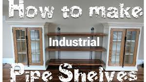 Industrial Bookcase Diy How To Make Industrial Pipe Shelves Diy Tutorial Youtube