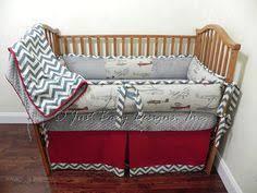 Custom Boy Crib Bedding Baby Bedding Made To Order 4 Pc Vintage Airplane Crib Bedding Set
