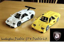 lego lamborghini car both lambos lamborghini diablo lego and legos