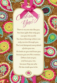 bright paisley pattern religious birthday card for her greeting