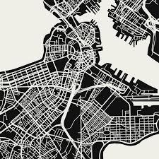 Boston Map by Boston Map Art Print Mr City Printing Touch Of Modern