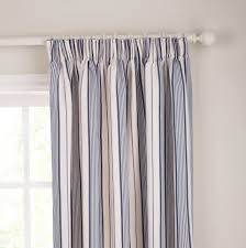 Blue And Striped Curtains Brown And White Striped Curtains Home Design Ideas
