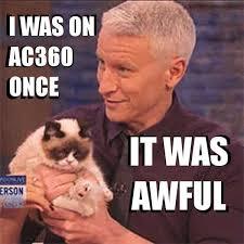 Anderson Cooper Meme - anderson cooper grumpy cat awful meme guy