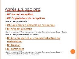 onisep cuisine apres le bac préparation au forum du 25 11 15 09 11 ppt télécharger