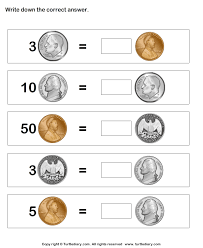 tally worth of coins worksheet turtle diary
