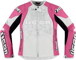 pink motorcycle jacket icon overlord prime women u0027s leather motorcycle jacket pink