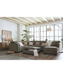 How Much Fabric For A Sofa Elliot Fabric Microfiber 3 Piece Chaise Sectional Sofa Created