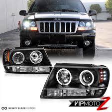 gray jeep grand cherokee 2004 1999 2004 jeep grand cherokee wj wg black led halo angel eye