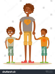 3 brothers isolated on white brotherly stock vector 733404970