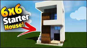 Modern House Minecraft Minecraft House Tutorial 6x6 Modern House Best House Tutorial